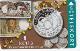 Denmark, TP 096A, ECU-France, Mint, Only 1500 Issued, Coins, Notes, Flag, 2 Scans. - Denmark
