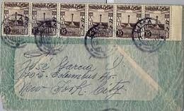 1936 , PERÚ , SOBRE CIRCULADO POR VIA AÉREA , LIMA - NUEVA YORK - Perú