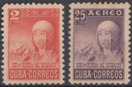 1952-405 CUBA REPUBLICA. 1952. Ed.476-77. ISABEL LA CATOLICA, SPAIN ELEIZABETH THE CATHOLIC. MH. - Unused Stamps