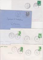 Lot 6 Lettres Oblitération FOIRE DE PARIS Bureau Temporaire 1947 1977 1981 1984 1985 1988 - Marcofilia (sobres)