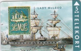 Denmark, TP 045, Rare Stamps - Lady McLeod, Ship, Mint, Only 2000 Issued, 2 Scans. - Denmark