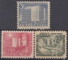 1953-227 CUBA REPUBLICA. 1953. Ed.563-65. CONGRESO DE TRIBUNAL DE CUENTAS. MNH. - Cuba