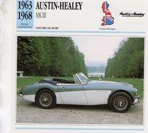 Austin-Healey 3000 Mk III   -  1963  -  Fiche Technique Automobile (Grande Bretagne) - Voitures