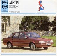 Austin Montego   -  1984  -  Fiche Technique Automobile (Grande Bretagne) - Voitures
