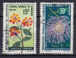 "Cameroon Cameroun 1970  ""Flowers: Lantana And Passiflora"" (Yv 481 And 482 ) Used - Cameroun (1960-...)"