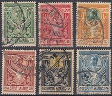 SIAM - 1910 - Serie Completa Obliterata: Yvert 96/101, 6 Valori. - Siam