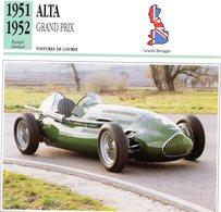 Alta Grand Prix (1951)  -  Voiture De Course (GB)  -  Fiche Technique/Carte De Collection - Grand Prix / F1