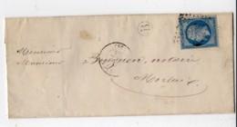 PLOUIGNEAU Finistere GC 2906 1863 Fragment Lettre Frappé à Sec Notaire LE GOFF De GUERLESQUIN - 1849-1876: Période Classique