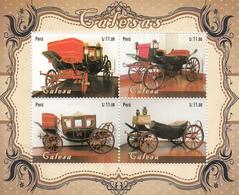2014 Peru Transportation Carriages    Complete Souvenir Sheet  MNH - Peru