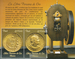 2014 Peru Gold Libra Coins   Complete Souvenir Sheet  MNH - Perú