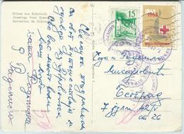 Yugoslavia - 1963.stamps Definitive Issue:  And Red Cross Stamp.Postcard - Dubrovnik - 1945-1992 République Fédérative Populaire De Yougoslavie