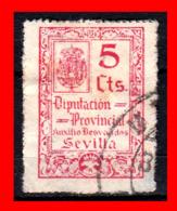 ESPAÑA SELLO DIPUTACIÓN PROVINCIAL SEVILLA . AUXILIO DESVALIDOS 5 Cts - 1931-50 Nuevos & Fijasellos