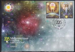 Serbia 2015 International Year Of Light, FDC - Serbie