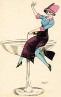 Sager Xavier, Femme Dans Coupe De Champagne, Ed  B G 529 - Sager, Xavier