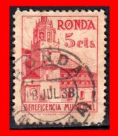 ESPAÑA SELLO RONDA (MÁLAGA).BENEFICENCIA MUNICIPAL.5 CTS - 1931-50 Nuevos & Fijasellos