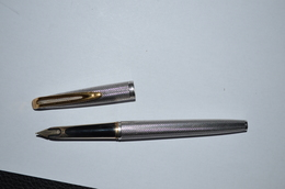 Stylo Plume Argent Massif Plume Or 18cts Waterman Vintage - Stylos