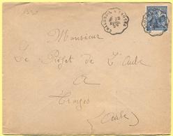 FRANCIA - France - 1929 - 50c Jeanne D`Arc + Cachet Convoyeur Ambulant - Viaggiata Da Chalons Sur Marne à Troyes Per Tro - Storia Postale