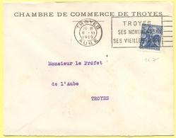 FRANCIA - France - 1929 - 50c Jeanne D`Arc + Flamme - Chambre De Commerce De Troyes - Viaggiata Da Troyes Per Troyes - Storia Postale