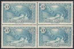 ANDORRA - 1943 - Quartina Nuova MNH Di Yvert 92. - Unused Stamps