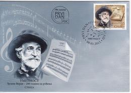 Serbia 2013 Composer Giuseppe Verdi, FDC - Serbie