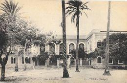 Thiès (Sénégal) - Palmiers, Batiment Administratif Ou Résidence à Identifier - Cliché E.H. - Carte N° 17 Non Circulée - Senegal