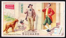 CHROMO  Chocolat SUCHARD  Les Fables De La Fontaine  Le Loup Et Le Chien   Serie 116 - Suchard