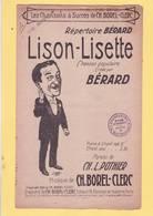 PARTITION  N°10: LISON LISETTE / MUSIQUE BOREL CLERC : PARPOLES POTHIER/ CLERICE ILLUSTRATEUR : - Chant Soliste