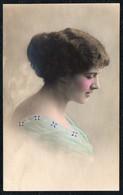 C1668 - Hübsche Junge Frau Porträt - Pretty Young Women - Mode Frisur - Coloriert - Photographie