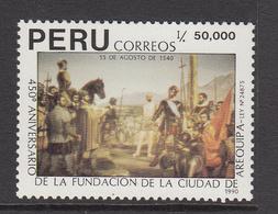 1990 Peru Arequipa Military History   Complete Set Of 1 MNH - Perù