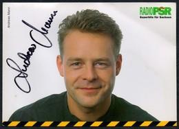 C1670 - Orig. Andreas Mann Autogramm Autogrammkarte - Radio PSR - Autogramme & Autographen