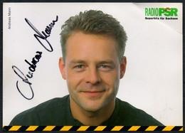 C1671 - Orig. Andreas Mann Autogramm Autogrammkarte - Radio PSR - Autogramme & Autographen