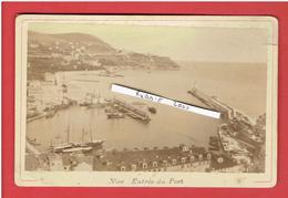 NICE ENTREE DU PORT PHOTOGRAPHIE ARGENTIQUE VERS 1880 - Photos