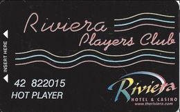 Riviera Casino - Las Vegas, NV - 9th Issue Slot Card - Line Over Riviera / 1 In Phone# Over L In Las Vegas - Casino Cards