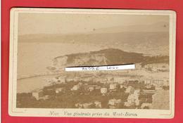 NICE VUE PRISE DU MONT BORON PHOTOGRAPHIE ARGENTIQUE VERS 1880 - Photos