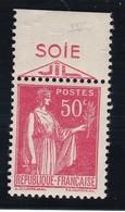 PUBLICITE: TYPE PAIX 50C ROUGE SOIE JIL ACCP 838 NEUF** - Advertising