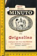 Etichetta Vino Liquore Grignolino 1971 F.lli Minuto-Barbaresco - Altri