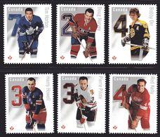 CANADA  2014, # 2787ai-fi. NHL  THE ORIGINAL SIX , DIE CUT  Permanent  Stamps - Carnets