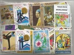 Lot 500 Timbres Du Monde - Stamps