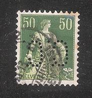 Perfin/perforé/lochung Switzerland No 103  1908-1933 - Hélvetie Assise Avec épée  C.C. Continental Caoutchouc - Gezähnt (perforiert)