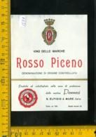 Etichetta Vino Liquore Rosso Piceno Pennesi S. Elpidio A Mare - Other