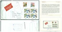 V7350 ITALIA 1999 REPUBBLICA ANTICIPO EMISSIONE Lettera Espresso Da Firenze 2.8.1999 Per Stoccolma Con Blocco Di 4 Del V - 6. 1946-.. Repubblica