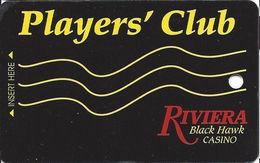 Riviera Casino - Black Hawk CO - 3rd Issue Slot Card - No Mfg Mark - BLANK - Casino Cards