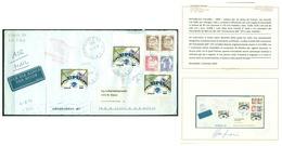 V7351 ITALIA 1999 REPUBBLICA ANTICIPO EMISSIONE Lettera Espresso Da Firenze 2.8.1999 Per Chicago Con 3 Valori Da 900 - 6. 1946-.. Repubblica