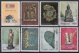 DPR Korea 1977 Sc. 1562/1968 Arte Koreana Del V-XII Sec. Serie Completa Full Set CTO - Corea Del Nord