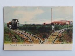 C.P.A. : ANTIGUA W. I. : The Central Sugar Factory, Railway - Antigua & Barbuda