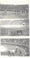 """CORRIDA - LOT DE 3 CP - """" Course Espagnole N° 1126-1133-1140  """"  - Circulé En 1921 - B.G.L. - Corrida"""