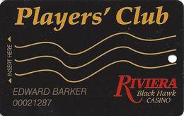 Riviera Casino - Black Hawk CO - 5th Issue Slot Card - ACC & UPPER Case Web Adr - Casino Cards