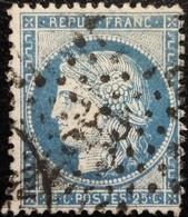 FRANCE Y&T N°60A Cérès 25c Bleu. Oblitéré étoile De Paris N°35 - 1871-1875 Cérès