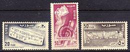 Syria Air Post Sc#C223-C225 (1956) Intl. Museum Week (UNESCO) Full Set OG MLH* - Syrie