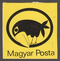 Seal Stamp HUNGARIAN POST - Self Adhesive Vignette Label Cinderella CLOSE - NOT USED - Hungary 1980's - RAVEN Bird - Poste